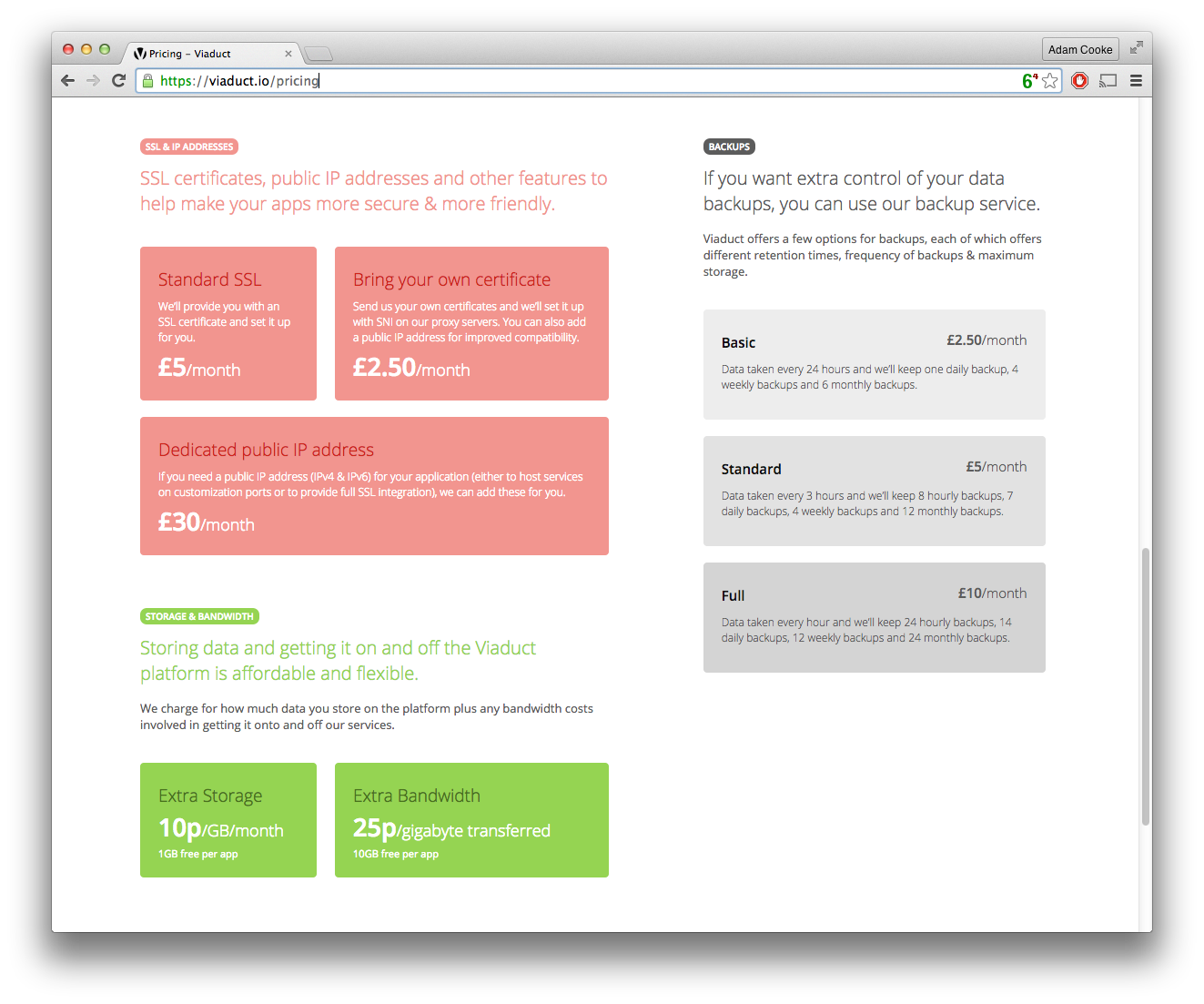 Lovely new pricing page