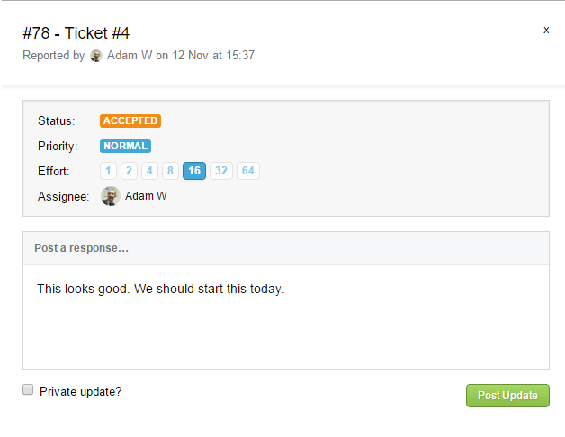 Ticket Comment