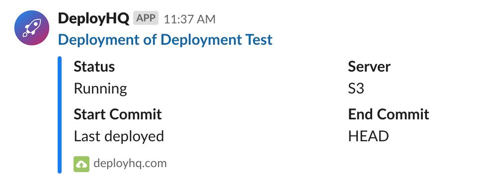 Running deployment