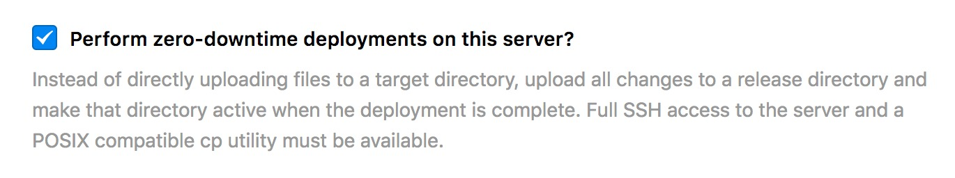 Zero downtime enabled