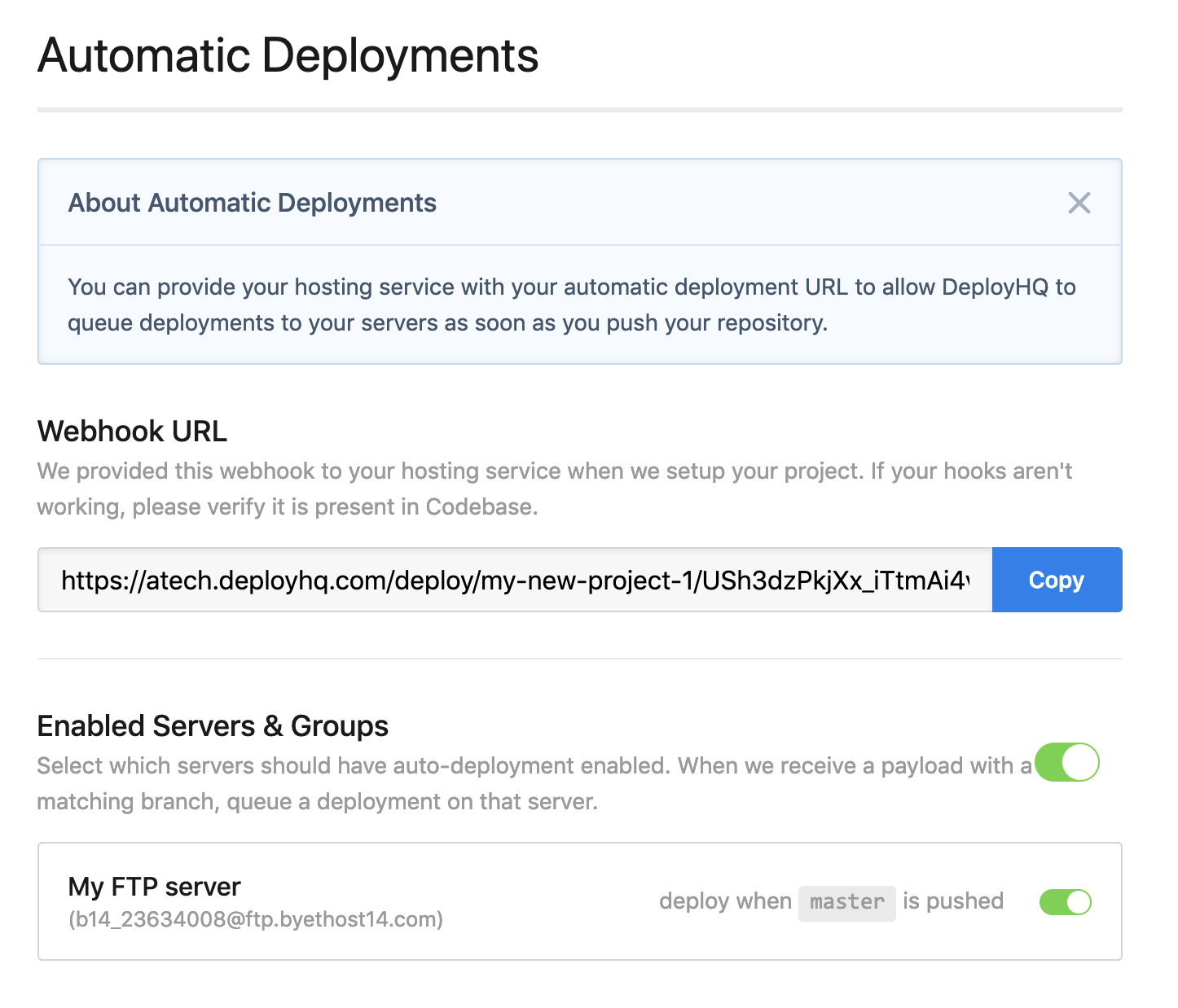How to deploy to your FTP server with Git and DeployHQ