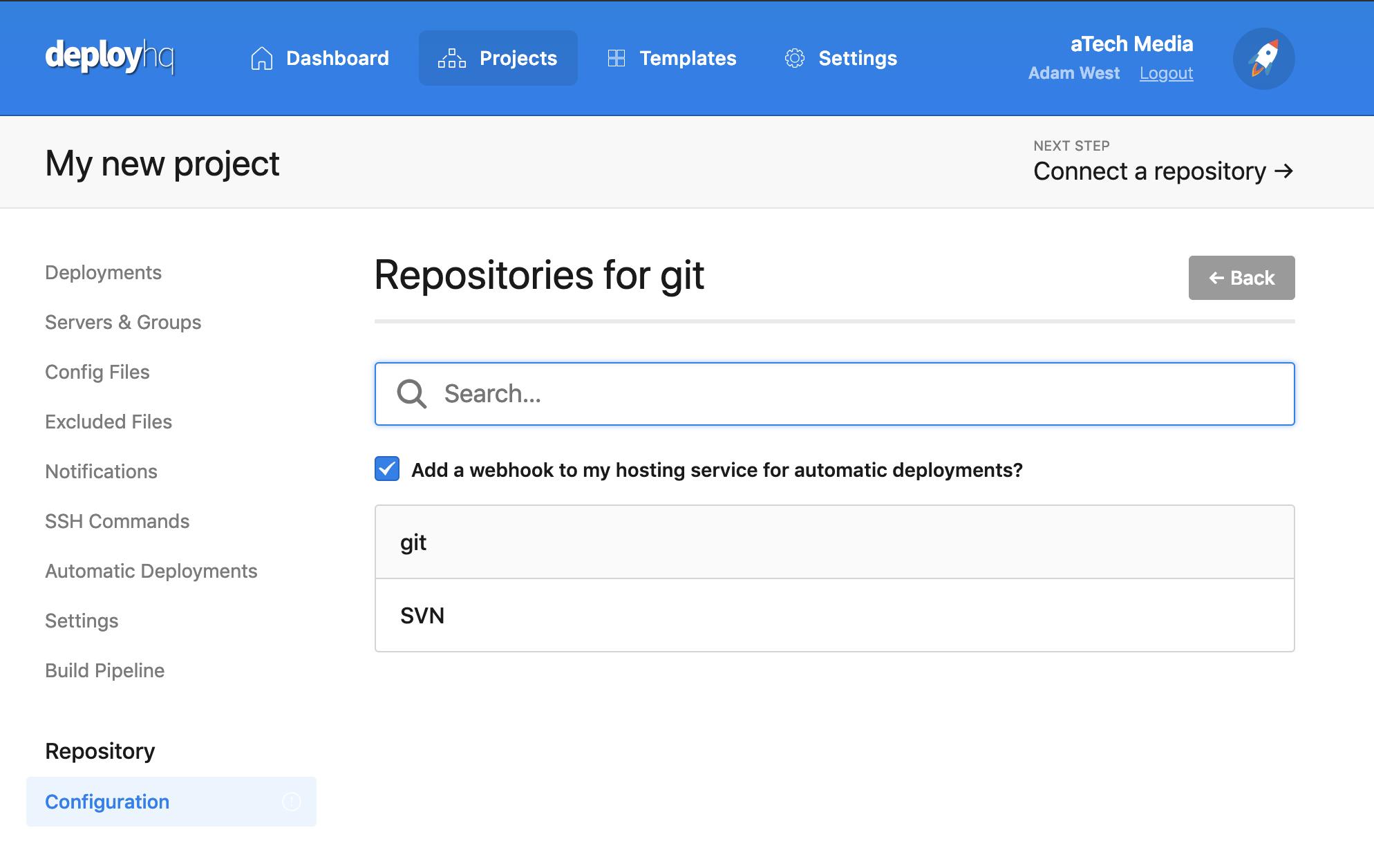 Repository list