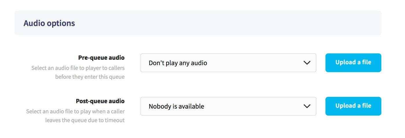 Queue audio