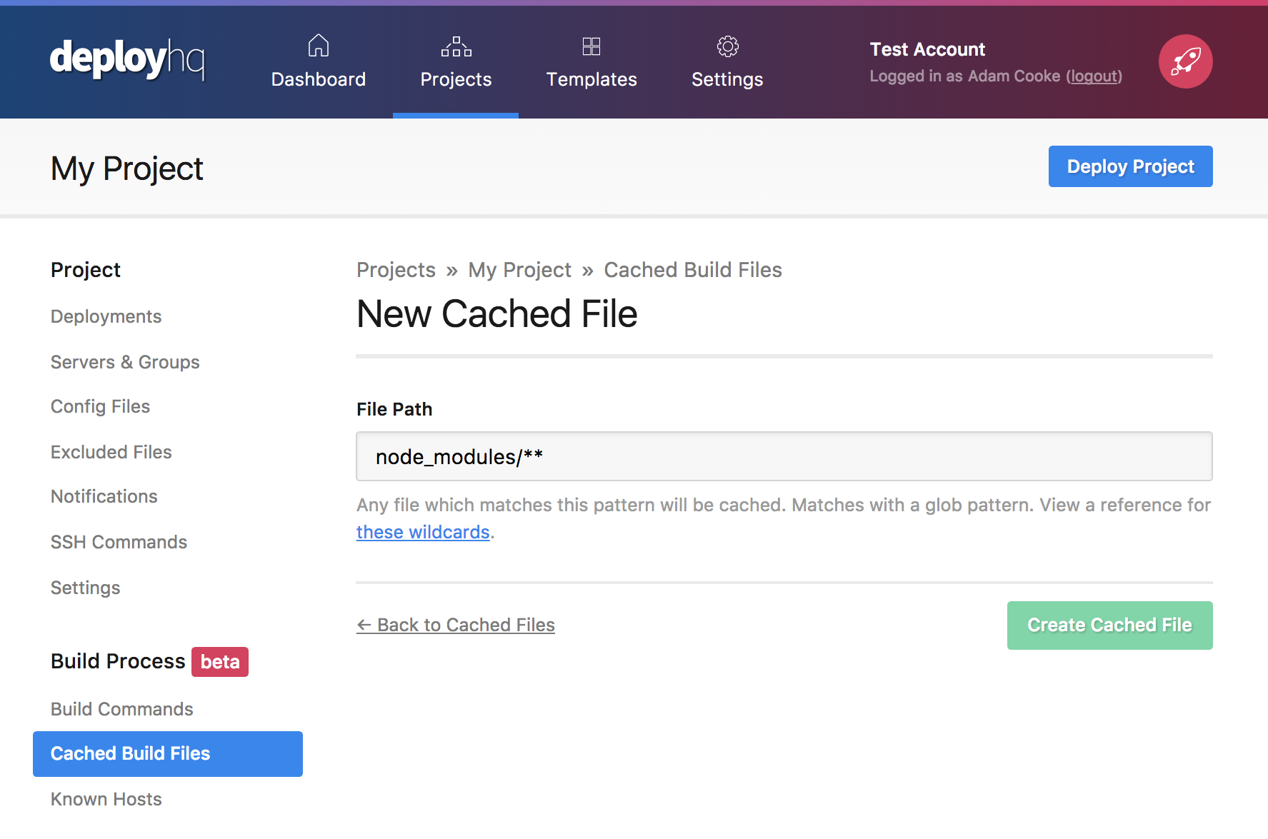 Cached files