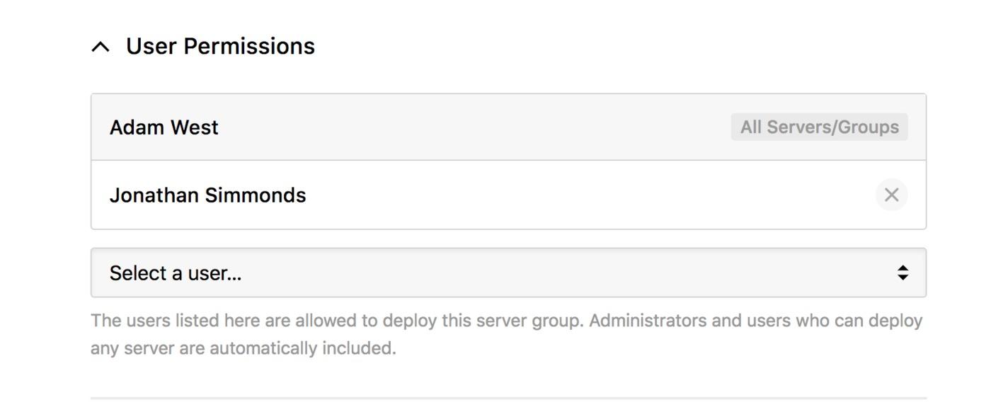 Server permissions