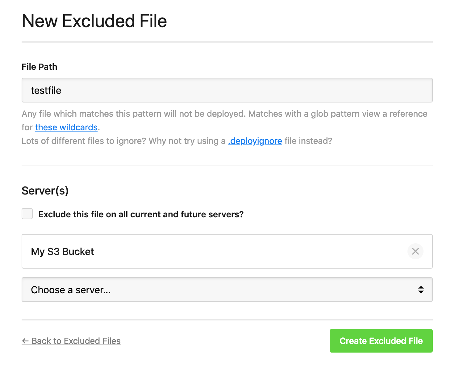 New excluded file